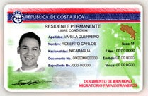 Costa Rica Residency Card