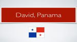 Driving in the City of David, Panama