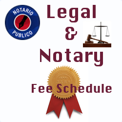 Attorney & Notary Fee Schedule