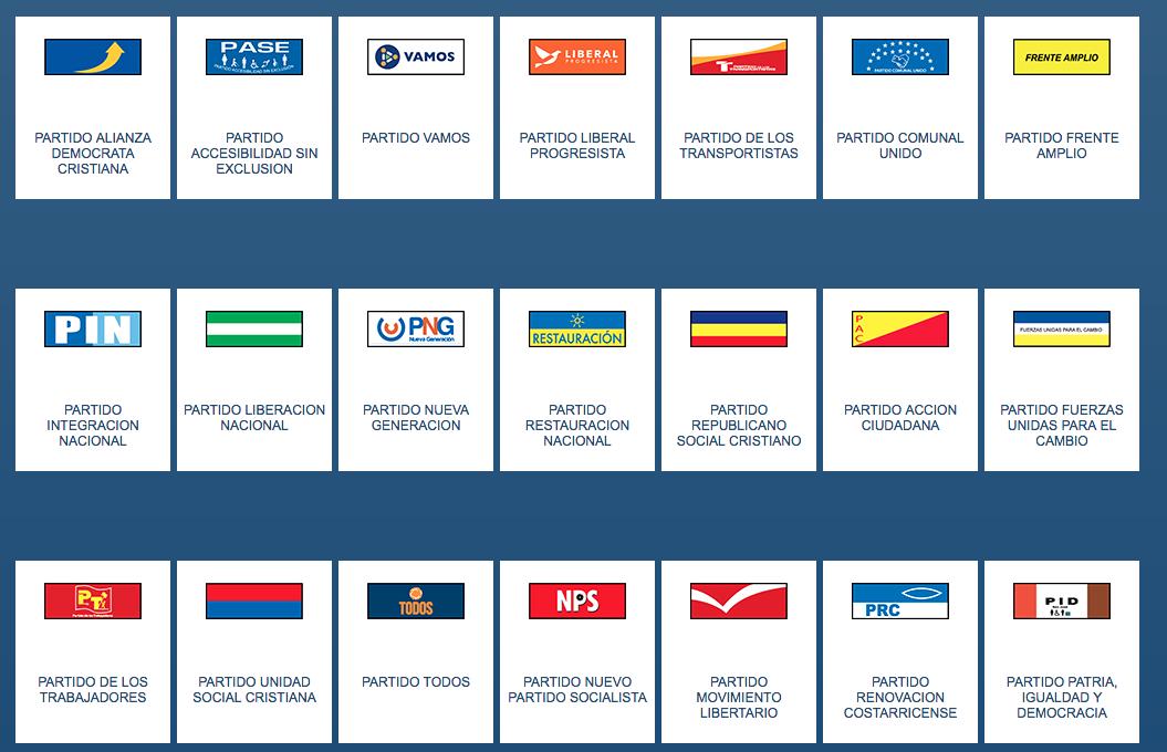 Costa Rica Political Parties 2018 - CostaRicaLaw com