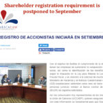 Shareholder Registration postponed until September