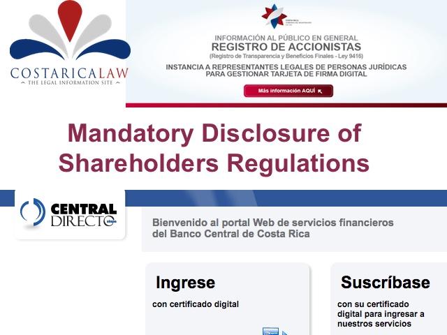 Mandatory Disclosure of Corporation Shareholders and
