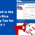 How much is the Costa Rica Company Tax for 2021 ?