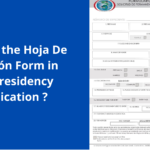 What is the Hoja De Filiación Form in your residency application ?