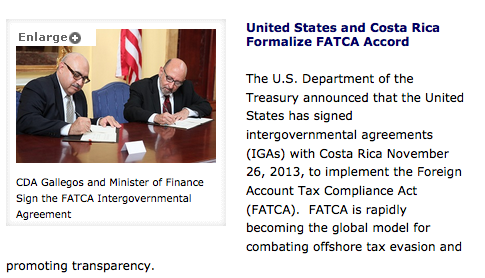 FATCA and Costa Rica
