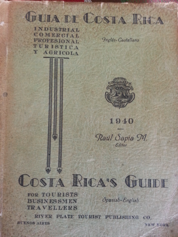 Costa Rica Tourism Guide 1940
