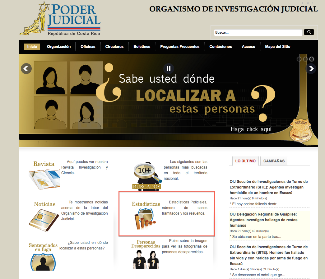 Crime Statistics for Costa Rica