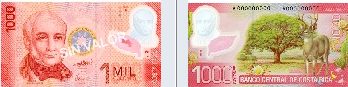 Costa Rica New Money Bills